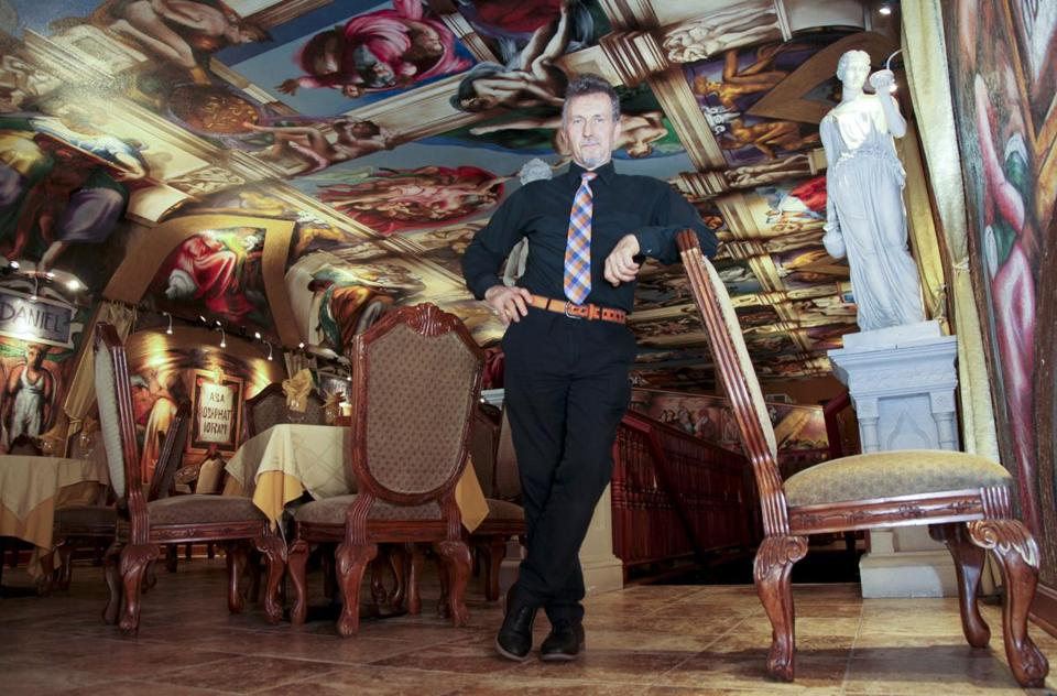"Jacky Rosic stood in his Bosnian restaurant ""Galleria de Paco."" earlier this month."